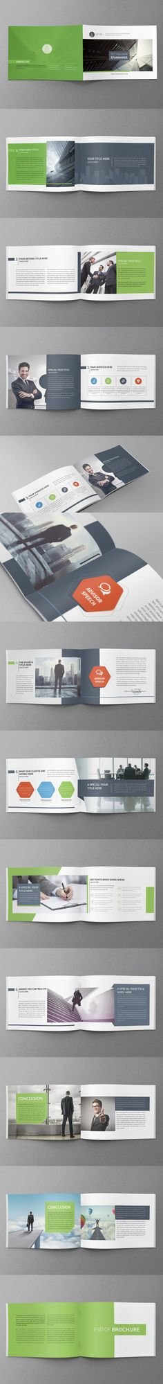 Minimal Business Brochure Template PSD - A5