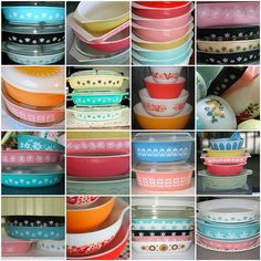 I want to have this much vintage Pyrex!