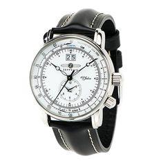 モダンなデザインがどんなシーンにもマッチします!!ZEPPELIN  100周年記念モデルツェッペリン 海外正規品腕時計  7640-4 第二時間帯