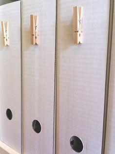 Pinzas para colgar etiquetas en los archivadores
