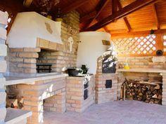 Kemax - Budaörsi kerti konyha Outdoor Kitchen Design, Home Decor Kitchen, Outdoor Fireplace Designs, Backyard Pavilion, Bbq, Outdoor Decor, House, Modern, Outdoors