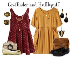 """Gryffindor and Hufflepuff // Harry Potter"" by glitterbug152 on Polyvore"
