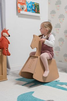 Encourage imagination and grow their balancing skills with our wooden Thetis Rocking Horse. This modern take on a traditional toy can be treasured for years to come with the option to transform into both a see-saw and storage box. Colorful Playroom, Playroom Ideas, Kids Bedroom, Bedroom Ideas, Traditional Toys, Seesaw, Imagination, Horses, Learning