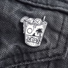 """""""Last Call"""" lapel pins available in the store now! Link in bio. Get em while they're hot. #jamiebrowneart #lastcall #lapel #pins #lapelpin #pingame #patchgame #skull #cocktail #bebida #beach #death #tropical #gloom #skullusion #thirsty #thursday #staychill #jb by jamiebrowneart"""