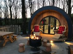Luxury Camping Pods for Glamping Holidays in Yorkshire: Catgill Farm Camping Pod, Camping Glamping, Camping Hacks, Backpacking Tent, Campsite, Cosy Camping, Camping Outdoors, Camping Ideas, Tulum