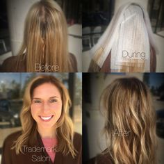 Contouring the hair can be a simple base color shadowing and bring it out but not quite to the end. #hairpainting #haircontouring #dreamteam #embeemeche #goldwell #goldwellcolor