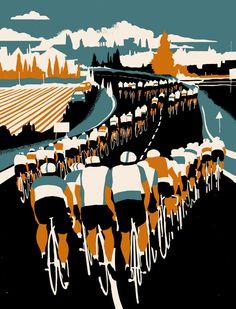 Echelon - Eliza Southwood print. Tour De France – Gas Art & Design