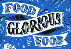 PETER GANDER FINE ART: 'Food Glorious Food' artwork for card & tea towel