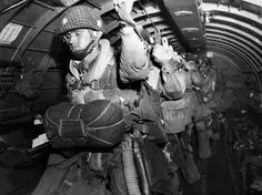 My dad was in the 82nd airborne, and there was also the 101st airborne. -- American Paratroopers get ready to make the jump.