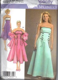 Simplicity 4070 - possible bridesmaid (the straighter skirt - not ...