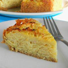 Receita simples de Torta de Repolho com Massa de Linhaça sem Glúten e sem Leite! Confira no nosso blog!