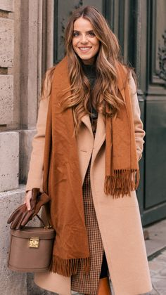 Parisian street style | camel coat outfit ideas