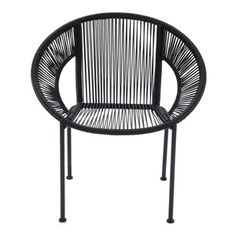 Benzara - Comfortable Deck Chair, Black - Armchairs And Accent Chairs