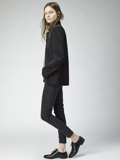 all black and loafers, tomboy style, #minimalist