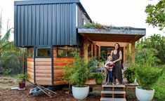 Small Tiny House, Modern Tiny House, Tiny House Living, Tiny House Design, Tiny House On Wheels, Little Houses, Tiny Houses, Small Space Design, Budget Planer