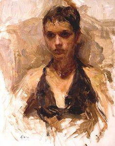 ArtDemonstrations.com: Ron Hicks Oil Portrait Sketch