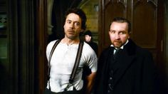 """Never mind -- I've got the next best thing."" (Robert Downey Jr. as Holmes and Eddie Marsan as Lestrade in ""Sherlock Holmes"")"