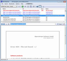 AM-DeadLink - Software to detect dead links in browser bookmarks and HTML files. Download FavIcons. #genealogy
