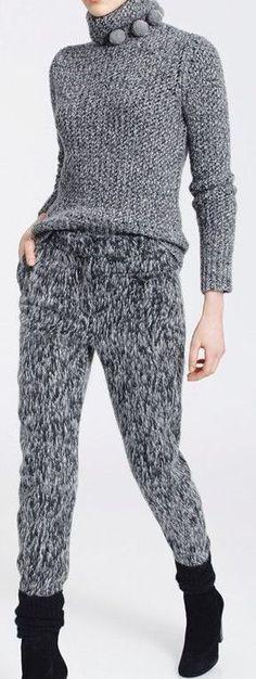 Mnemosina.ru: Для вдохновения(модели с описанием и без описания) (41/41) Icelandic Sweaters, Wool Sweaters, Warm Leggings, Knit Pants, Crochet Wool, Casual Street Style, Crochet Clothes, Pull, Autumn Winter Fashion