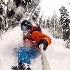 Photo of the Day! GoPro rockstar @Nate Bosshard getting steep and deep last winter! #gopro #snowboard - @GoPro- #webstagram