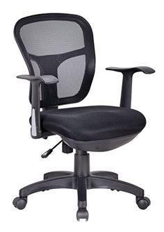 Office Factor Ergonomic Black Mesh Desk Computer Task Conference Room  Office Chair Lumbar Support Extra Cushion On The Seat Fixed Arms Swivel  Tilt Mechanism ...