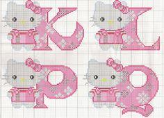 Sandrinha Cross Stitch: Alphabet Hello Kitty