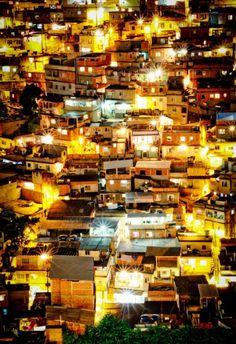 Rio de Janeiro, Brazil. An amazing and raw photo of Rio De Janeiro at night time.
