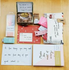 First Day Care Package Ideas | Here's a great care package idea to send out. #DIYReady DIYReady.com