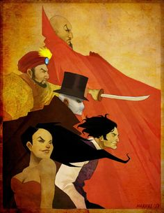 70d6a18e83 Ming the Merciless Kabai Singh Fantomas John Sunlight and Madame Satan  League Of Extraordinary Gentlemen