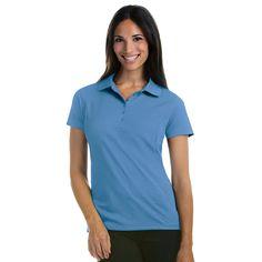 Antigua Women's Columbia Blue Pique Xtra-Lite Polo