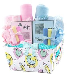 "Little Miracles Double Baby Gift Basket, Twins Baby Gift Baskets ""Bath Time Fun"" 32 Piece Deluxe Baby Gift with Luxe Hooded Towels, Pink and Blue Little Miracles,http://www.amazon.com/dp/B008ZFLX8K/ref=cm_sw_r_pi_dp_QEh1sb0S3BYQRB8B"
