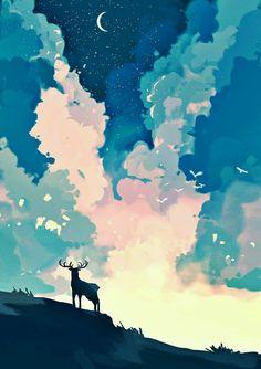 ideas illustration art painting beautiful for 2019 Art Inspo, Kunst Inspo, Inspiration Art, Art And Illustration, Illustrations, Landscape Illustration, Fantasy Kunst, Fantasy Art, Landscape Art