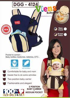 Gendongan Depan 2 in 1 Dialogue DGG 4124 * Terdapat saku di bagian depan untuk menyimpan keperluan sang bayi seperti dot, botol susu, sapu tangan atau celemek * Untuk bayi dengan berat maksimal 12 kg atau sekitar 15 bulan * Dibuat dengan mutu tinggi dan bahan yang berkualitas * Nyaman untuk ibu dan bayi * 100% handmade * Dapat digunakan dalam 2 posisi bayi: Menghadap kedalam atau ke depan * Fashionable dan elegan * Tersedia dalam 2 pilihan warna: Navy-Moca dan Brown-Moca  IDR 144.000  Komen…
