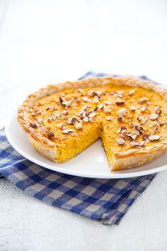 Tarte au potimarron et noisettes (utiliser de la pate sans gluten)