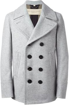 $1,398, Burberry Brit Classic Peacoat. Sold by farfetch.com. Click for more info: https://lookastic.com/men/shop_items/105247/redirect