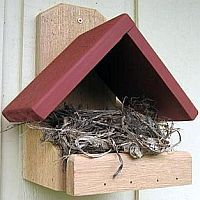 Robin Nesting Platforms #birdhouseideas