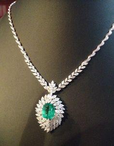 30 Ct Cushion Emerald & Diamond Beautiful Tennis Necklaces White Gold Over Sapphire Diamond, Halo Diamond, Blue Sapphire, Diamond Rings, Diamond Jewelry, Gold Jewelry, Jewelry Box, Diamond Tennis Necklace, Diamond Are A Girls Best Friend