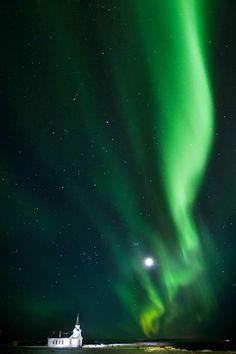 My first photoshoot of aurora borealis.  © Mika Linho