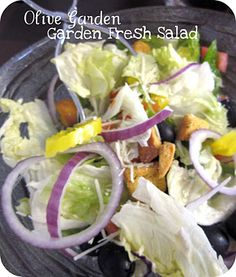 Olive Garden Salad and Salad Dressing Recipe
