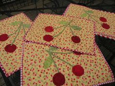 Cherry Placemats!!!  Only my PSF's will appreciate my howls of laughter!  That being said, these are very cute, and I love this blog!  Nan is SO talented!