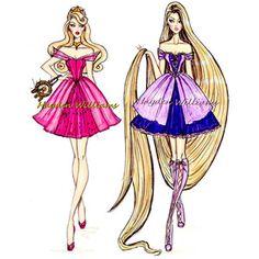 Disney Princess Fashion, Disney Princess Drawings, Disney Princess Art, Disney Drawings, Disney Style, Disney Art, Princess Rapunzel, Princess Aurora, Disney Princesses