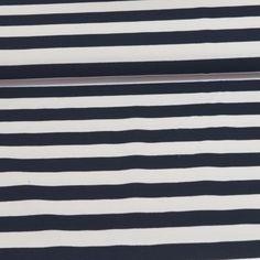 French terry breton streep 2cm blauw wit