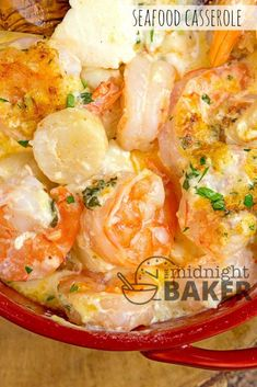 Seafood Casserole Recipes With Scallops. Seafood Pasta Bake Made With Shrimp Scallops And Crab By . Special Seafood Casserole Recipe Taste Of Home. Shrimp Casserole, Seafood Casserole Recipes, Seafood Bake, Seafood Dinner, Seafood Lasagna, Seafood Appetizers, Simple Appetizers, Keto Casserole, Shrimp And Scallop Recipes