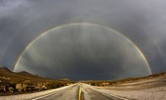 Double rainbow after a heavy monsoon, Searchlight, Nevada.