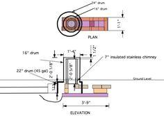 Filename: Rocket stove design.png Description: Rocket stove tentative design