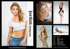 Model Comp Card example 5