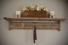 Reclaimed Barnwood Shelf with 5 Rusty Screws for by debstudio22