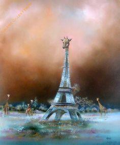 Louédin - Eiffel CO2 - Galerie Gilles Febvre