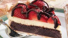 Strawberry Fudge Pie - CupcakeCandyCastle