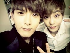 Ryeowook (Super Junior) + Xiumin (EXO-M).......I might have to check out Suju